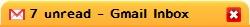 新しいGmail未読件数表示